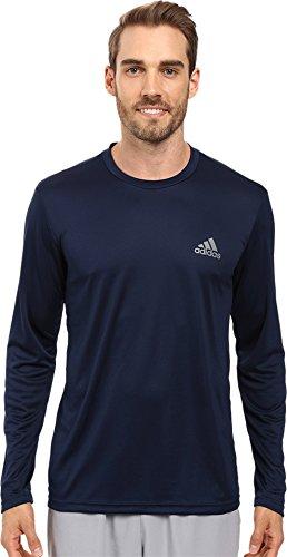 adidas Herren Training Essentials Tech Langarm-T-Shirt, Herren, Collegiate Marineblau, Small