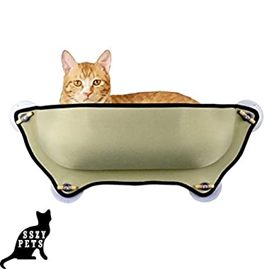 SSZY Cat Bed, Creative Cat Window Perch, Unique Cute EZ Hammock With Four Suction Cups Lounger EZ Mount Window Bed Perch Sofa for Bird Watching