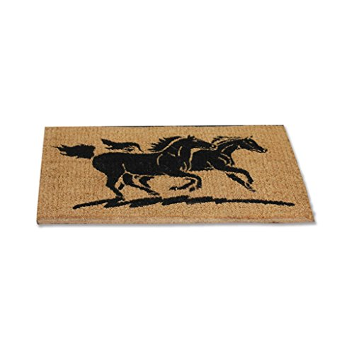 WALDHAUSEN Fußmatte Kokos gallopierende Pferde, Motiv 2 / zwei Pferde, Pferde