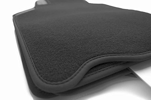 Fußmatten 996 (Premium Velours) Nubuk Rand - Automatten Original Qualität 4-teilig schwarz