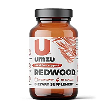 UMZU Redwood Nitric Oxide Booster Capsules - 30 Day Supply - N.O Supplement for Circulatory Support