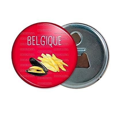 Décapsuleur Aimanté Magnet Belgique Moules Frites - Humour Symbole Pays Ouvre Bouteille Refrigerateur