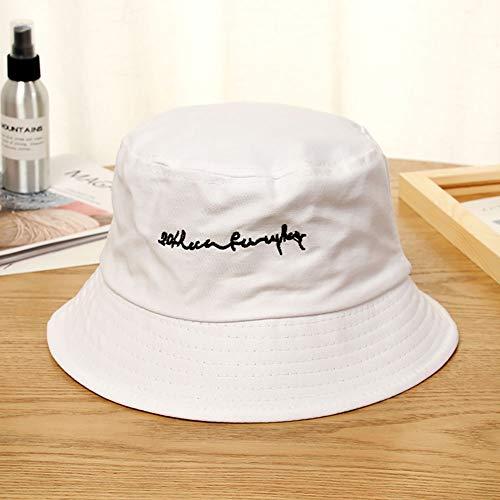 LQIQI Summer Flat Fischerhut Sonnenschutzzone Hüte Sonnenschutzkappe (Stickmuster)