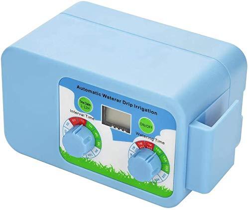 HWMYA Controlador del Sistema de riego automático Agua Temporizador LCD Controlador de riego de riego Temporizador electrónico jardín