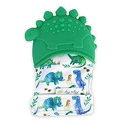 1. Itzy Ritzy Dinosaur Silicone Teething Mitt