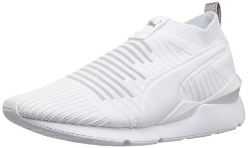 PUMA Zapatillas Muse sin cordones para mujer, blanco (Blanco), 37.5 EU