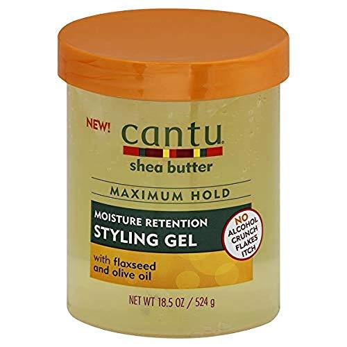 Cantu Cantu Shea Butter Styling Gel Con Semilla De Lino + Aceite...