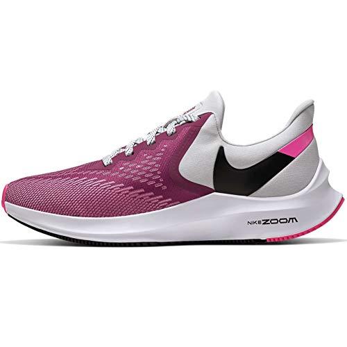 Nike Zoom Winflo 6 Lightweight Running Shoe - Women's (8, Grey/Pink)