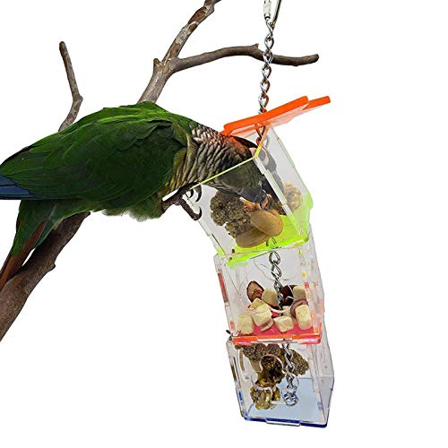 【𝐑𝐞𝐠𝐚𝐥𝐨】AMONIDA 9.1x2.2x2.2en Caja de alimentación Colgante fácil de Transportar, Juguetes de alimentación extraíbles para Colgar pájaros, para periquitos de Aves de la Tienda de Mascotas