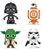 FJJF Mini Building Blocks Star Wars Nano Kits Niño Educativo 3D Puzzle DIY Modelo Ladrillo Regalos De Juguete (4 Piezas)