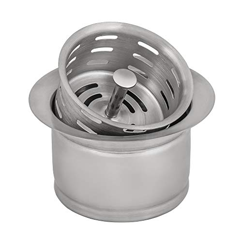 Ruvati Deep Garbage Disposal Flange with Basket Strainer for Kitchen Sinks - Stainless Steel - RVA1049ST