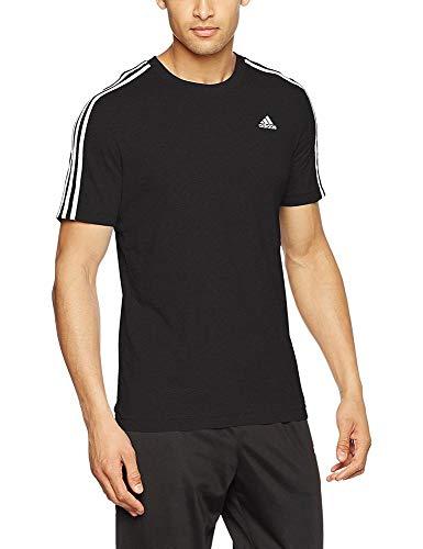 adidas ESS 3S tee Camiseta, Hombre, Negro, XLT