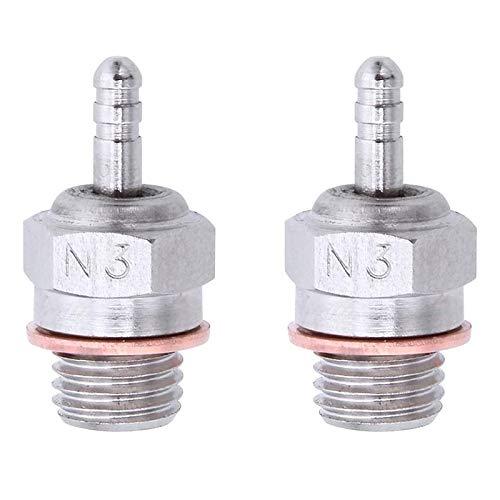 Vaorwne 2 Piezas de BujíAs Incandescentes Hot Spark Vertex SH Piezas Motor para Camiones Nitro Reemplazar OS RC Car HSP 70117,N3