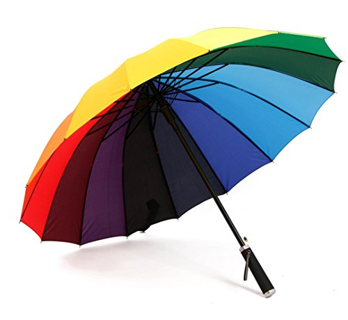 GTWP GTWP GT Umbrella Regenbogen Regenschirm Sun Rain Automatisch Umbrella Anti-UV Waterproof Parasol Regenschirm Sunshade