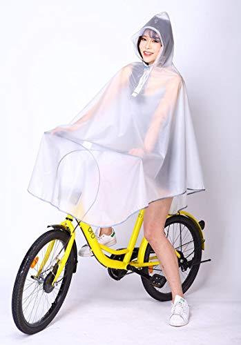 ZNYH Hombre, Mujer, Ciclismo, Bicicleta, Impermeable, Capa, Poncho, con Capucha, a Prueba de Viento, Impermeable, para Movilidad, Scooter, Rosa, Talla única