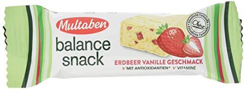 Multaben Balance Snack Erdbeer-Vanille Energieriegel, Energy Bar mit Antioxidantien und Vitaminen, Snackriegel mit Vanille-Erdbeer Geschmack