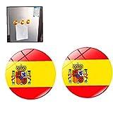 Bandera 2pcs Imán De Nevera De Cristal Magnéticos Pegatinas Decor España