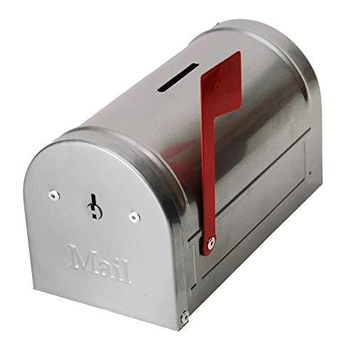 trendaffe US-Briefkasten Spardose in Silber - US-Mailbox Sparbüchse Sparschwein