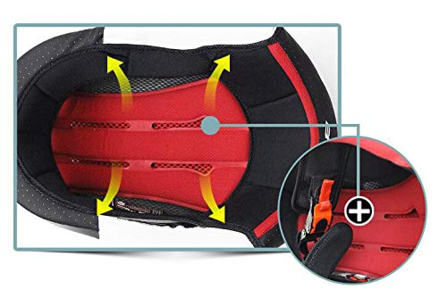 Woljay Off Road Helm Motocross-Helm Motorradhelm Motocrosshelme Fahrrad ATV (L, Schwarz) - 5
