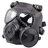 QHIU Masque Tactique M04 avec Ventilateur Masque de Protection intégrale du Visage...
