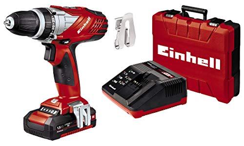 Einhell Akkuschrauber TE-CD 18 Li Set Power X-Change (Li-Ion, 18 V, 2 Gang, 48 Nm, LED-Licht, Koffer, inkl. 1,5 Ah Akku und Ladegerät)