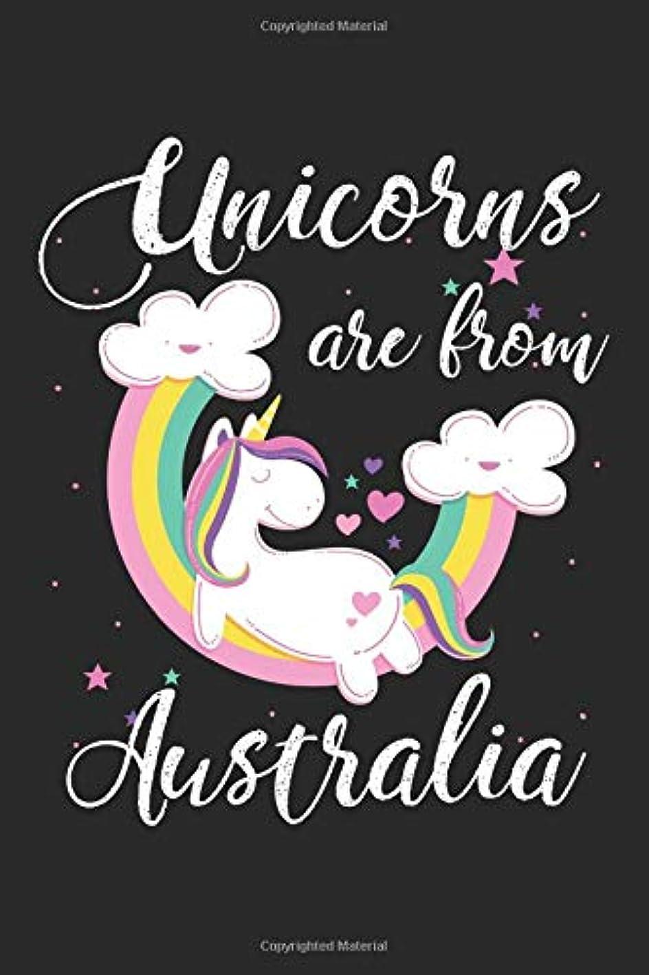 打倒年キュービックUnicorns Are From Australia: A Blank Lined Unicorn Journal for Travelers or People From Australia, Makes a Great Australia Gift, Australia Journal, Or Australia Souvenir