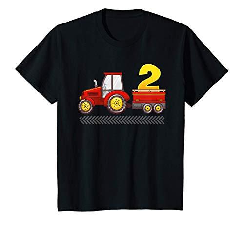 Enfant Tracteur 2ème anniversaire Fête d'Anniversaire T-Shirt