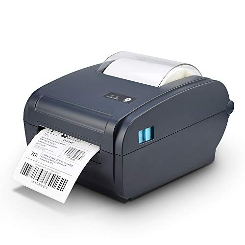 Thermal Label Printer 4x6 inch 150x100mm USB & Bluetooth for Windows & Mac. Royal Mail Hermes Etsy Shopify DHL Shipping Compatible with zebra dymo brother Labels 6x4 100mm desktop