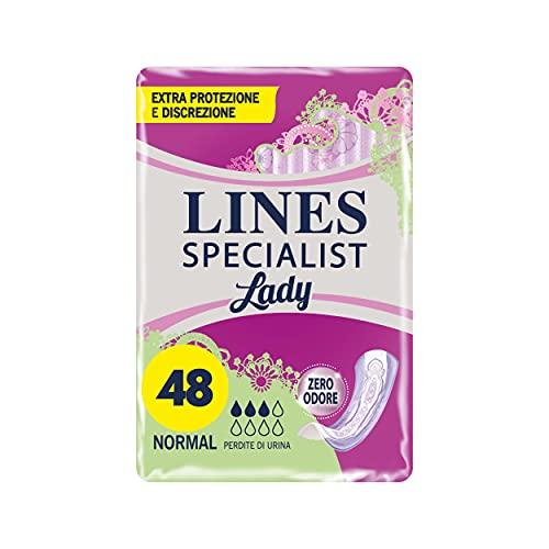 LINES SPECIALIST LADY Assorbenti per Incontinenza Leggera Normal, Confezione da 48 Pezzi