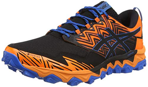 ASICS Mens Gel-Fujitrabuco 8 G-TX Running Shoe, Shocking Orange/Sheet Rock