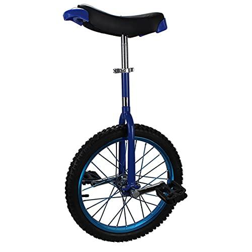 MeTikTok Luxus Einrad Einräder, 16/18/20/24 Zoll Unisex's Professionelles Unicycle Freestyle Fahrrad Starker Manganstahlrahmen for Kinder Und Erwachsene,Blau,24 Zoll
