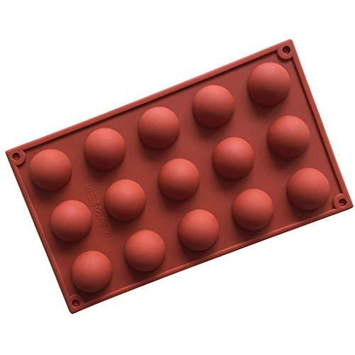 Fengyuanhong Silicone 15 Petit Cavités Hémisphère DemiCercle Chocolat Cuisson Moules gelée Glace Bonbons Moule