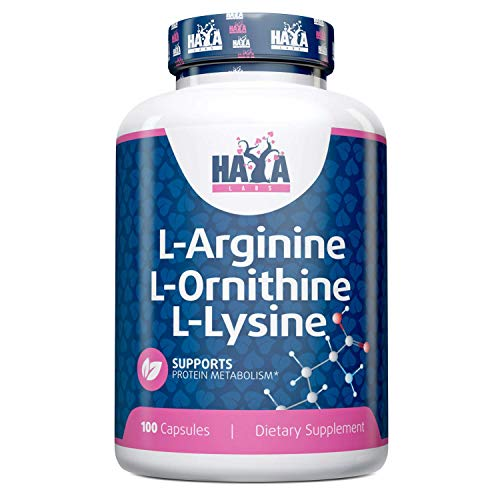 Haya Labs L-Arginine L-Ornithine L-Lysine 100 Capsules