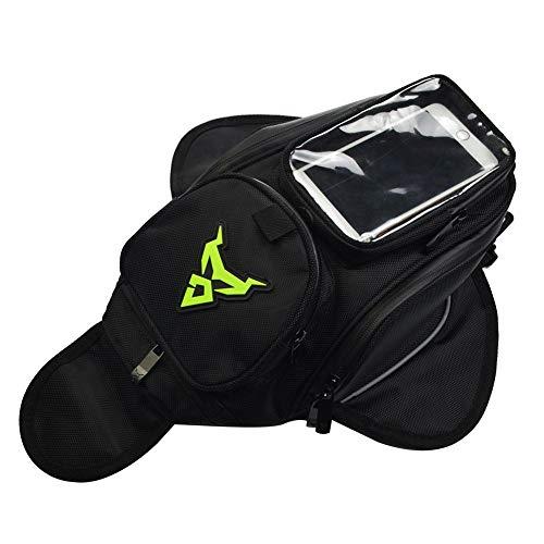 Gereton Tanktasche Motorrad Oxford Wasserdichte Tasche Motorrad Kleine Tanktasche Fahrzeug Riding Bag Messenger Bag Motorrad Tanktasche Navigation Paket, grün