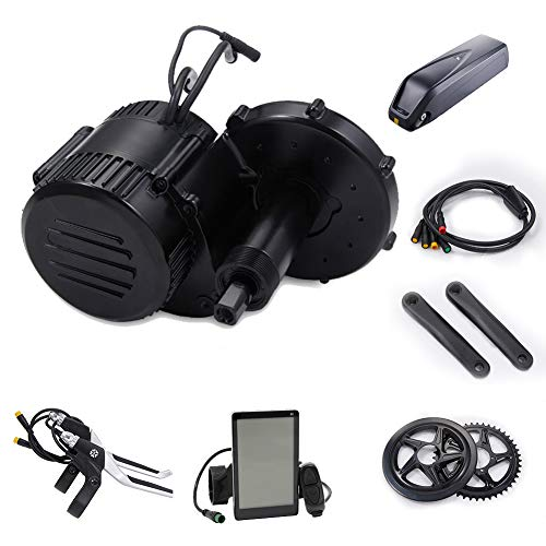 I·PAS 48V 500W Mid Drive Electric Bike Conversion Kit Electric Bike Mid Motor with 48V 13AH Electric Bike Battery Lithium Battery Cells BMS Protection Board Charger Off-Road Mountain Bike LCD Display