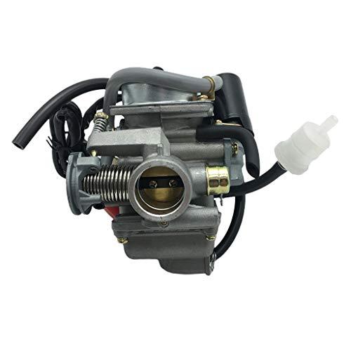 freneci Conjunto de Carburador PD24 Apto para GY6 125cc / 150cc Motocicleta Scooter Ciclomotor ATV