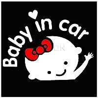 車のステッカー 車の車のステッカー16x14cmで車の中でボードの赤ちゃんの警告反射ステッカーの赤ん坊の漫画の赤ちゃん (Color : 3)