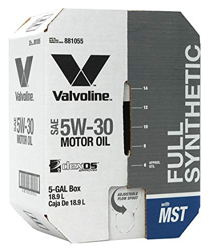 Valvoline 881055 5W-30 MST Full Synthetic Motor Oil-5 gal Advanced Bay Box, 640. Fluid_Ounces