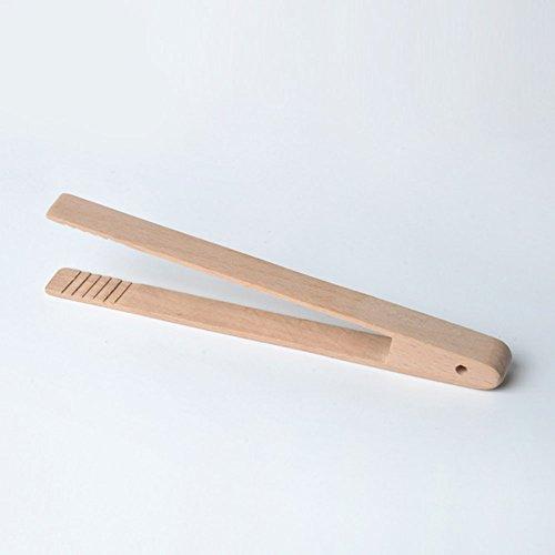Pinzas de cocina de madera, pinzas para asar, ensalada, barbacoa, parrilla, cocinar, hornear, freír, pan, bolsos, tartas 20cm*4cm As Picture Show