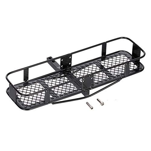 GoolRC RC Car Back Hitch Cargo Carrier Luggage Basket Capacity Basket Trailer Compatible with Hsp Redcat Traxxas Tamiya Hpi Rc4wd Axial 1/10 RC Crawler Car