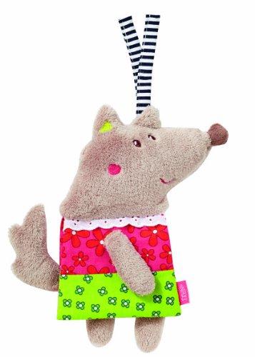 Fehn 89523 - Libro de tela para bebé, diseño de lobo, color rosa