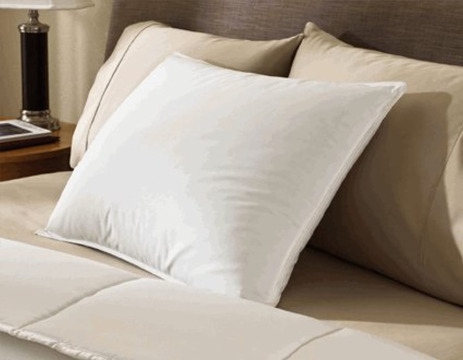 Encompass Group ? 50 50 White Duck Feather and Down Pillow - Queen Size