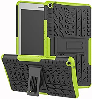 YHUISEN Hyun Pattern Dual Layer Hybrid Armor Kickstand 2 in 1 Shockproof Cover for Huawei MediaPad T3 8.0 inch 2017 Release (Color : Green)