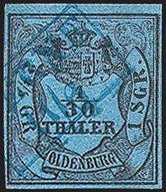 Goldhahn Oldenburg Nr. 2 gestempelt Briefmarken für Sammler