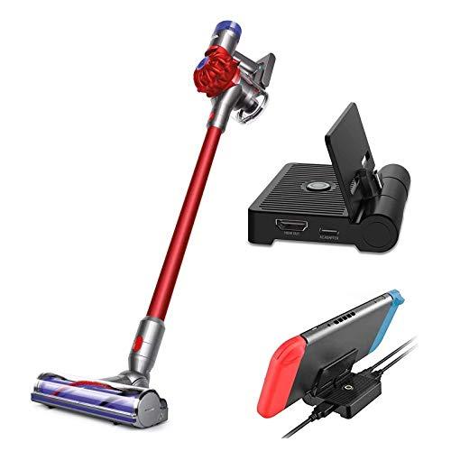 Dyson V8 Motorhead Origin Cord-Free Vacuum Hepa Holiday Bundle, Bagless Ergonomic, Telescopic Handle, Rechargeable, Carpet/Edge Cleaning + NexiGo Nintendo Switch Charging Station Bundle