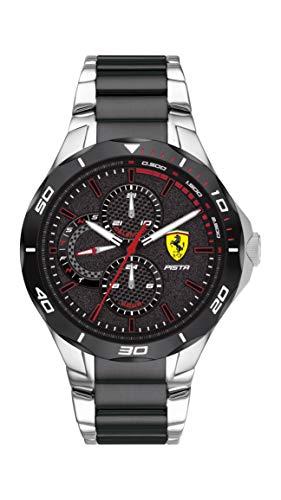 Scuderia Ferrari Reloj Analógico para Hombre de Cuarzo con Correa en Acero Inoxidable 0830761