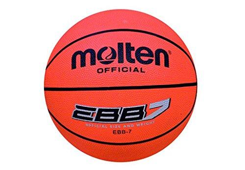 Molten 07289_0100, Pallone da Basket Uomo, Arancio, 7