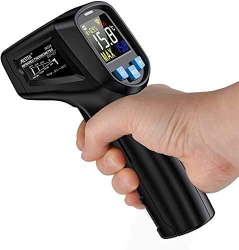 TONG Termómetro infrarrojo, Pistola de Temperatura Digital sin Contacto, -50 ° C a 600 ° C, Pantalla LCD, para Alimentos para Cocina Industrial automotriz BBQ (tamaño: 600) Instrumento