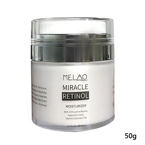 MIKI-Z Retinol Orgánico Crema Hidratante Facial Vitamina C Blanqueamiento Anti Envejecimiento Arrugas