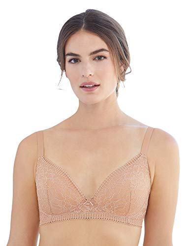 Glamorise Women's Full Figure Plus Size Shape Enhancing Padded A Cup Bra #3015, Nude, 48A